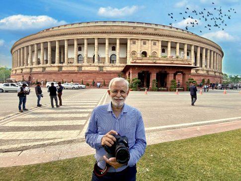 shutterbug sukumar in Parliament of India